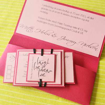 Pink Pocket Invitation