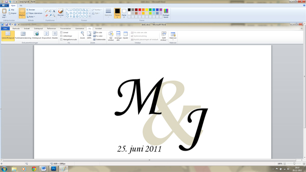 lav selv monogram i  word 9