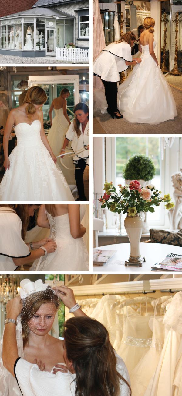 b0d78431b50e Hanne hjælper mig med at komme i de forskellige kjoler og ikke mindst  udvælge det rette tilbehør til kjolen.
